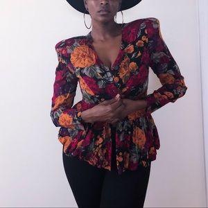 Floral Vintage Blazer!